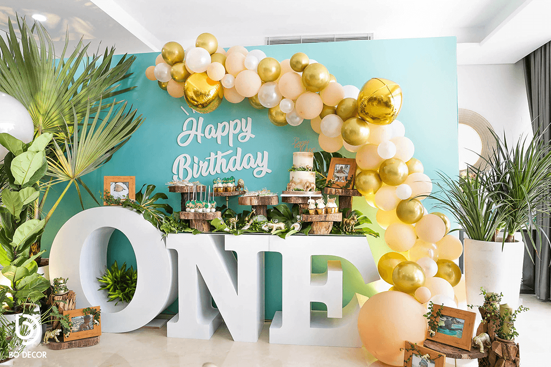 Tropical Glam 1st Birthday Party